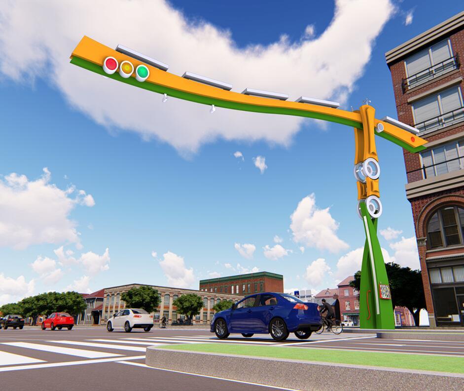 道闸型BoB全球体育投注平台交通信号灯杆