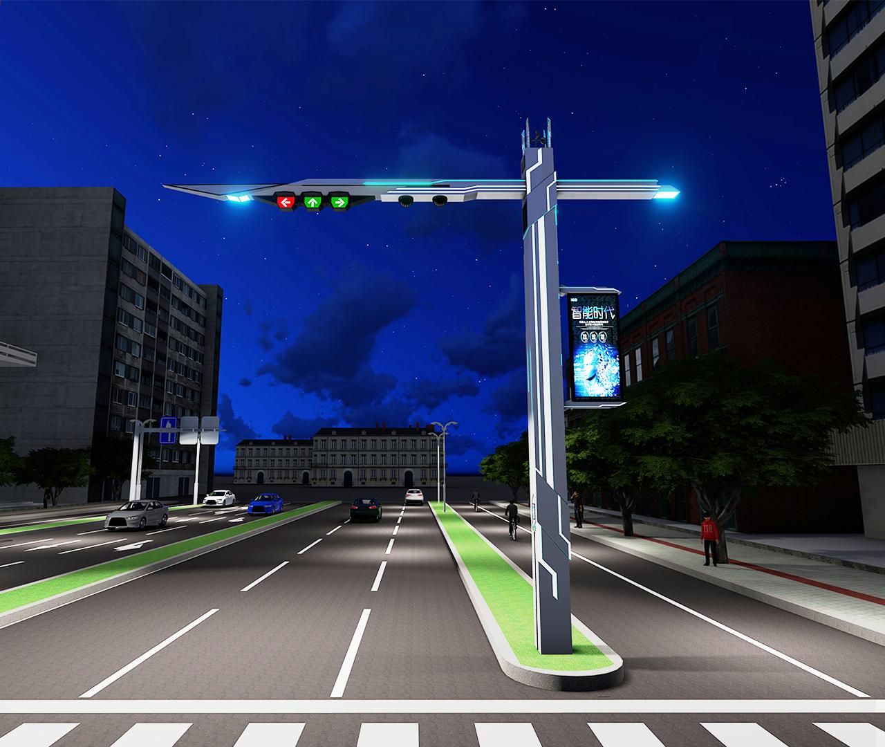 棱角型BoB全球体育投注平台交通信号灯