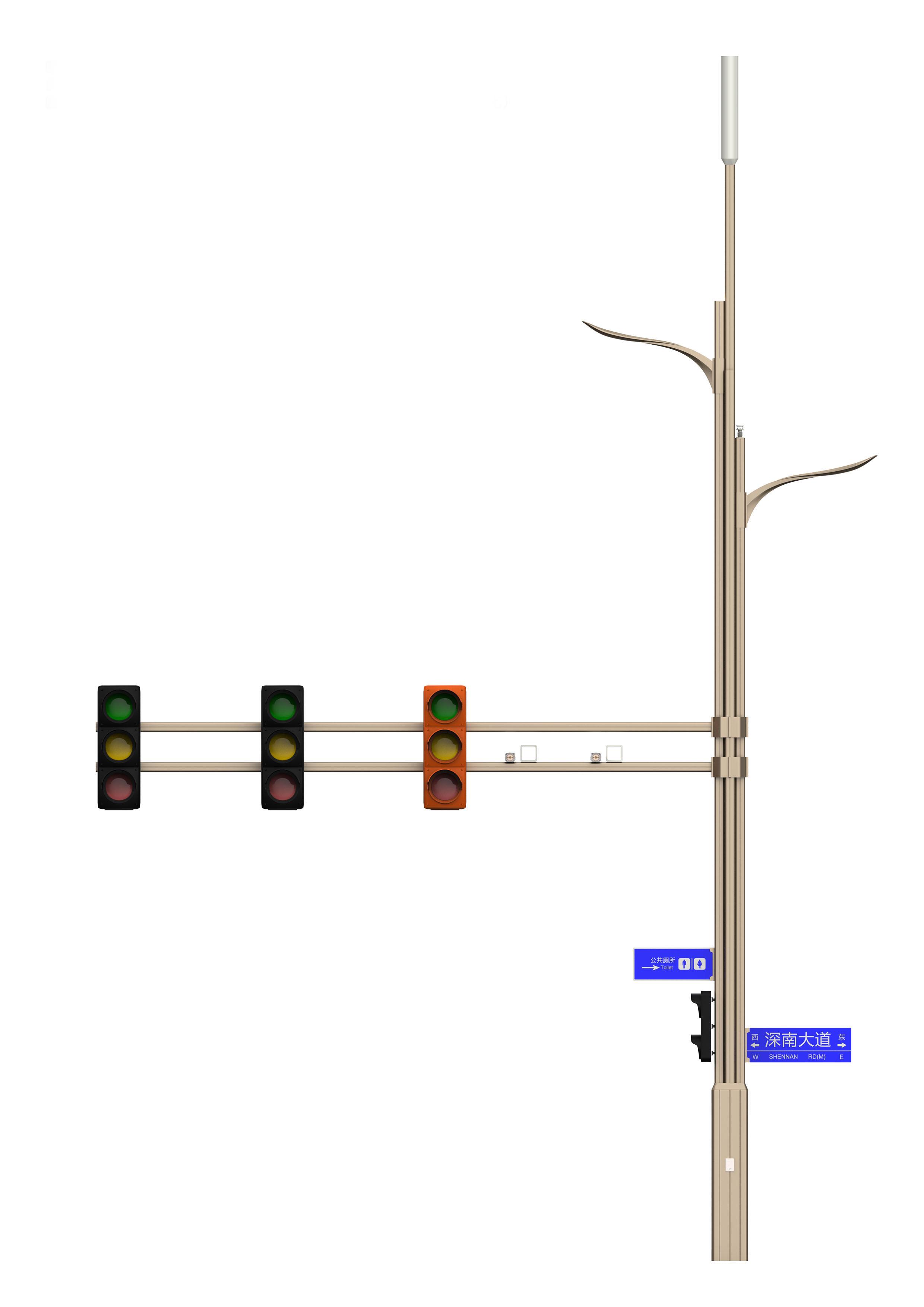 树枝型BoB全球体育投注平台灯杆