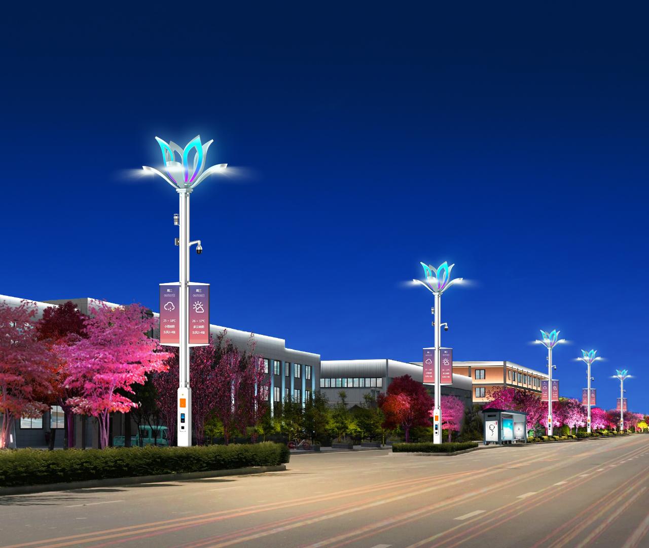 莲花型BoB全球体育投注平台道路路灯